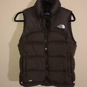 North face 700 vest brown